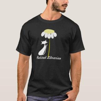 Pensionerad design för bibliotekarieT-tröjakatt Tee Shirts