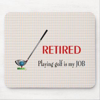 Pensionerad GOLF -, är att leka Golf ett JOBB Musmatta