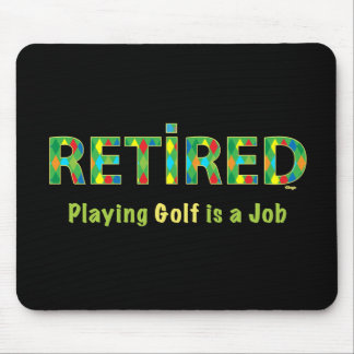 Pensionerad GOLF -, är att leka Golf min JOBBmus Musmatta