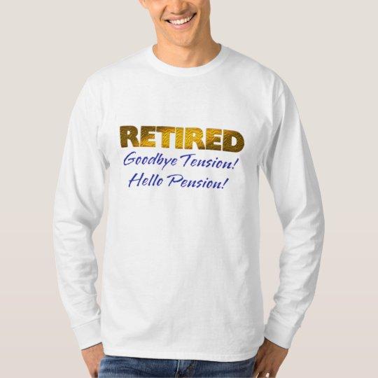 pensionerad goodbye rolig tröja för