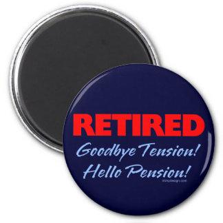 Pensionerad Goodbye spänning (mörk - blått) Magnet