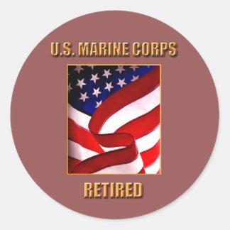 Pensionerad klistermärke för USMC