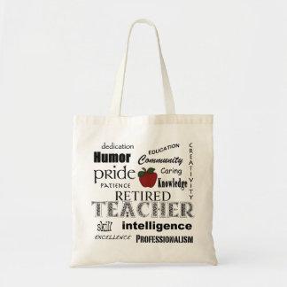 Pensionerad lärare Pride-Röda Apple+Anpassade Budget Tygkasse