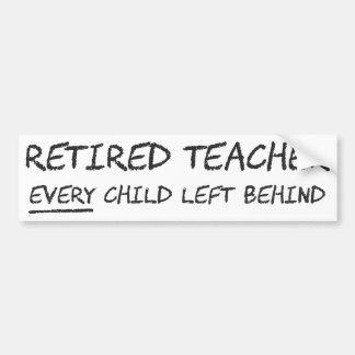 Pensionerad lärare VARJE kvarlämnat barn Bildekal