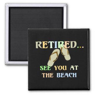 Pensionerad - se dig på stranden - manar magnet