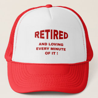 Pensionerat och älska varje minimalt hatt/lock truckerkeps