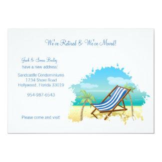 Pensionerat och rört meddelande 12,7 x 17,8 cm inbjudningskort