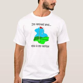 Pensionhumor för golfare tee shirts