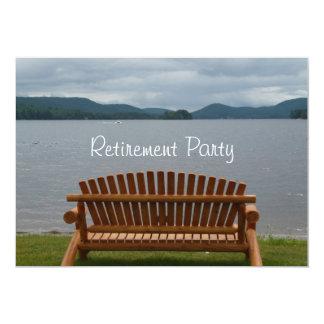 PensionPartyet-Lakeview med trä tar av planet 12,7 X 17,8 Cm Inbjudningskort