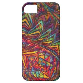 Pentagonal sakral geometri för regnbåge iPhone 5 cases