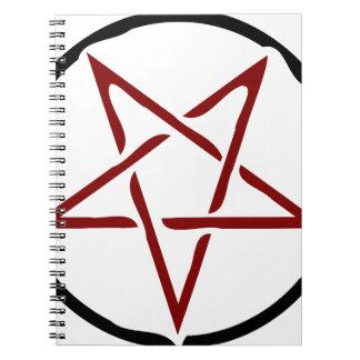Pentagram Anteckningsbok Med Spiral