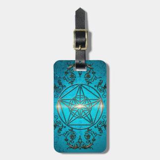 Pentagram ett magical symbol bagagebricka