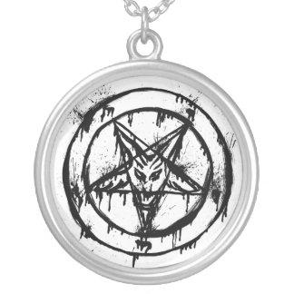 Pentagramhalsband Silverpläterat Halsband