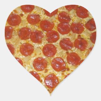 Peperonipizza Hjärtformat Klistermärke