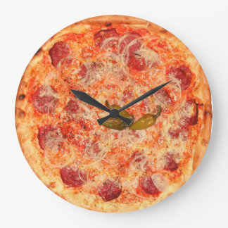 PeperoniPizza Time Stor Klocka