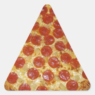 Peperonipizza Triangelformat Klistermärke