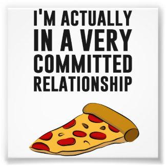 PeperoniPizzakärlek - ett allvarligt förhållande Fotografi