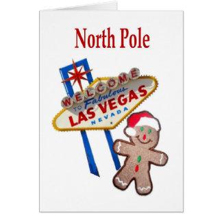 Pepparkaka M för nordpolenLas Vegas julkort Hälsningskort