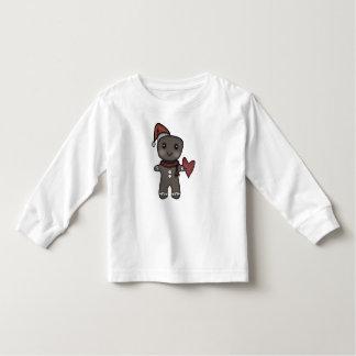 Pepparkaka Santa med hjärta Tshirts