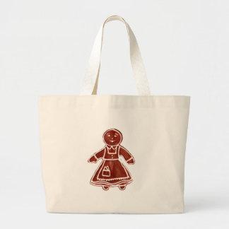 Pepparkakaflicka de MUSEUMZazzle gåvorna Tote Bags