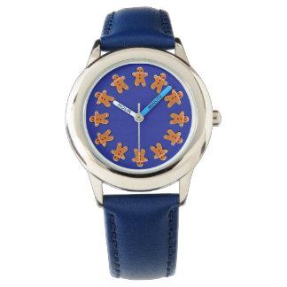 Pepparkakakakor på blått armbandsur