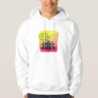 Pepparkaksgubbar med roliga kakor för inställning sweatshirt med luva