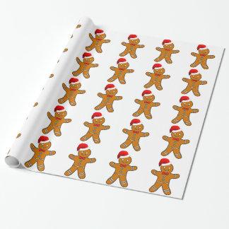 Pepparkaksgubbe på jul presentpapper