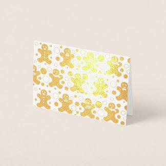 Pepparkaksgubbehälsningkort Folierat Kort