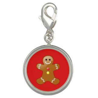 Pepparkaksgubben med rött och gult knäppas berlocker