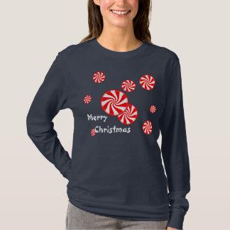 Pepparmint virvlar runt julskjortan t-shirt