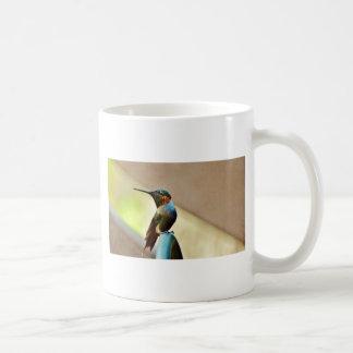 Perched Hummingbird för Ruby och för grönt lite Kaffemugg