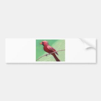 Perched kardinal bildekal