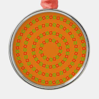 Perfekt 4 cirklar (den optiska illusionen) julgransprydnad metall