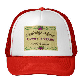 Perfekt åldrats över 50 år kepsar
