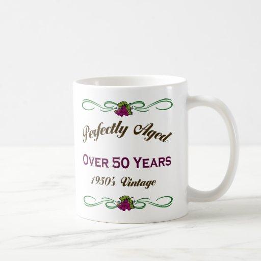 Perfekt åldrats över 50 år kaffe koppar