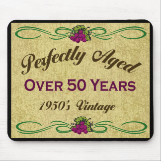 Perfekt åldrats över 50 år mus matta