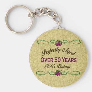Perfekt åldrats över 50 år nyckelringar