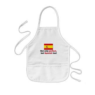 Perfekt och spanjor barnförkläde