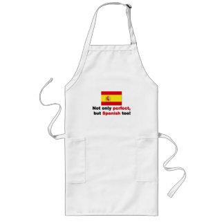 Perfekt och spanjor långt förkläde