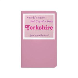 Perfekta Yorkshire Anteckningsbok