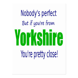 Perfekta Yorkshire Vykort