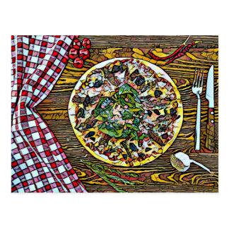 Perfektion för Pizzapaj för Postcrossing vykort