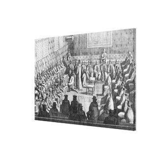 Period av parlamentet som varas ordförande av rege canvastryck