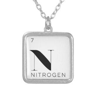 Periodisk //för bordinslaghalsband ett gasformigt silverpläterat halsband