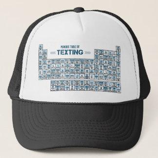 Periodiskt bord av Texting (blått) Keps