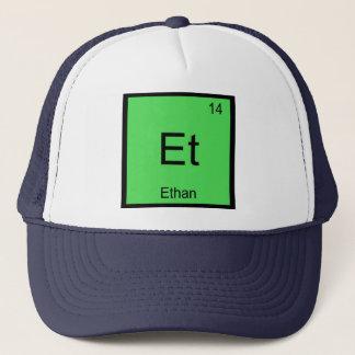 Periodiskt bord Ethan för känt kemiinslag Truckerkeps