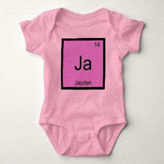 Periodiskt bord Jayden för känt kemiinslag Tee Shirt