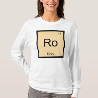 Periodiskt bord Rory för känt kemiinslag Tee Shirts