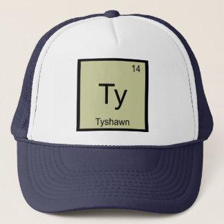 Periodiskt bord Tyshawn för känt kemiinslag Truckerkeps
