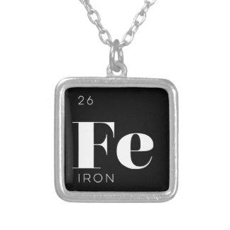 Periodiskt //för bordinslaghalsband järn silverpläterat halsband